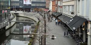 Haupteinkaufsstraße in Aarhus