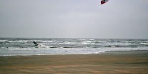 Wakeboarder in der Nordsee