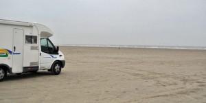 Wohnmobil am Strand auf Rømø