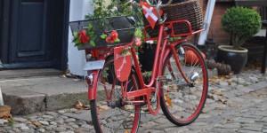 Fahrrad in den Landesfarben