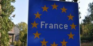 Grenzschild von Frankreich
