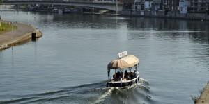 Boot auf der Sambre