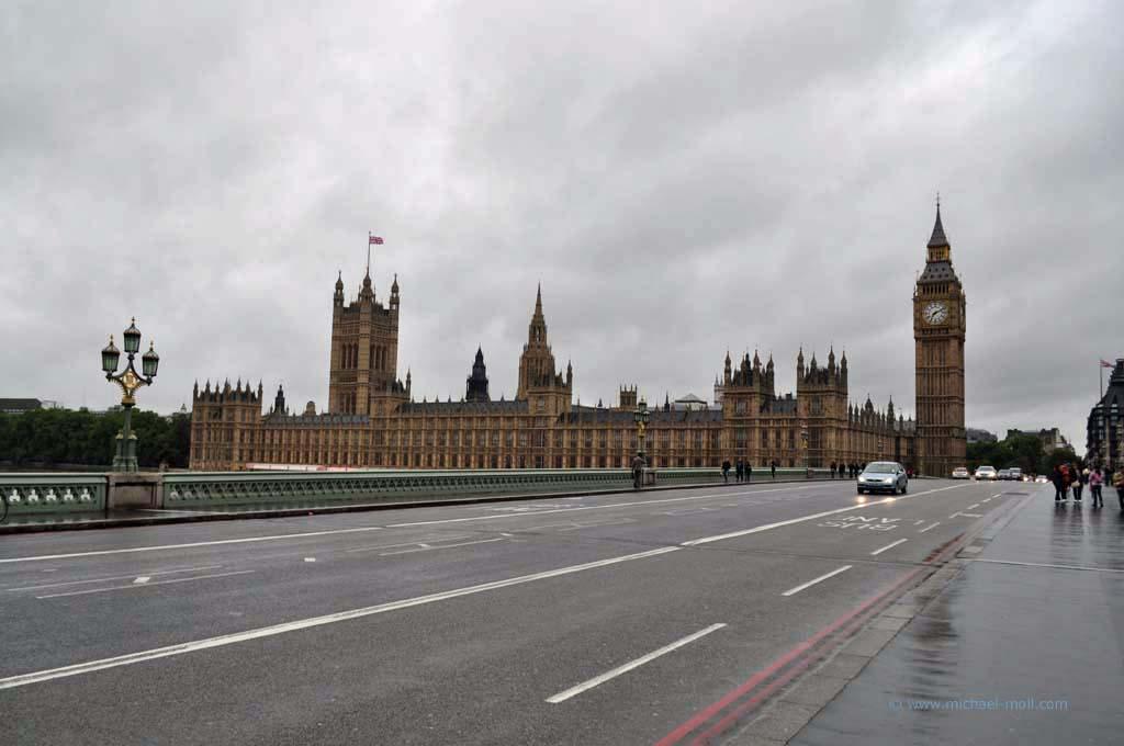 Parlament und die Westminster Bridge