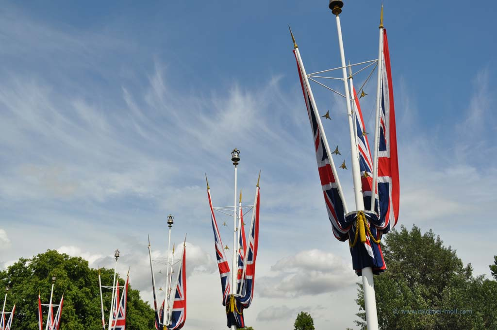 Union Jack am Flaggenmast