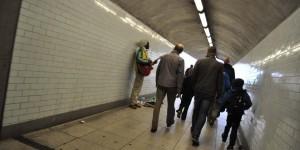 Musiker im U-Bahn-Tunnel