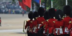 Truppen auf dem Weg zum Horse Guard