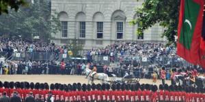 Die Queen auf dem Horse Guard