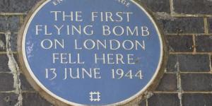 Hier traf die erste Rakete im WWII