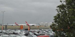 Airbus A380 auf dem Flughafen Heathrow