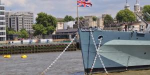 HMS Belfast auf der Themse