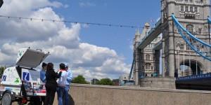 Tourismusinfo an der Tower Bridge