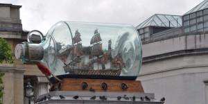 Buddelschiff auf dem Trafalgar Square