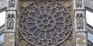 Rosette an der Westminster Abbey