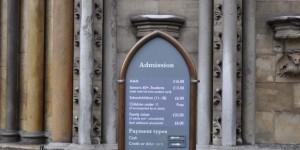 Eintrittspreise der Westminster Abbey