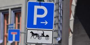 Parkplatz für Kutschen