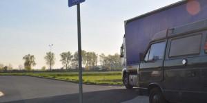 Übernachtung auf polnischer Autobahn