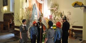 Ehrenwache am Grab Jesu zu Ostern