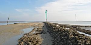 Nordspitze des Damms vor Wangerooge