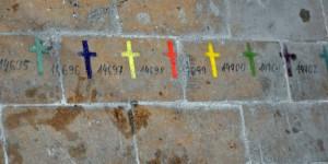 Jedes Kreuz steht für ein Opfer