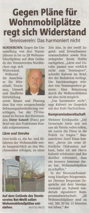 Ruhrnachrichten vom 23. April 2015