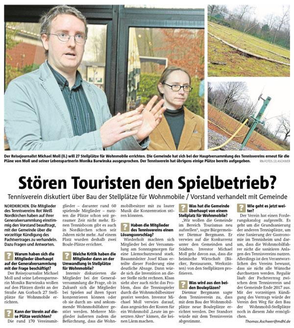Ruhrnachrichten vom 22. Februar 2016
