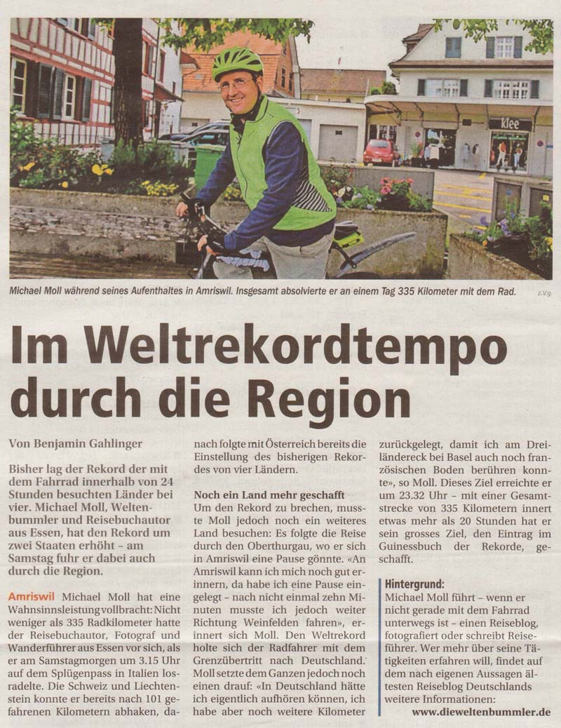 Oberthurgauer Nachrichten vom 9. Juni 2016