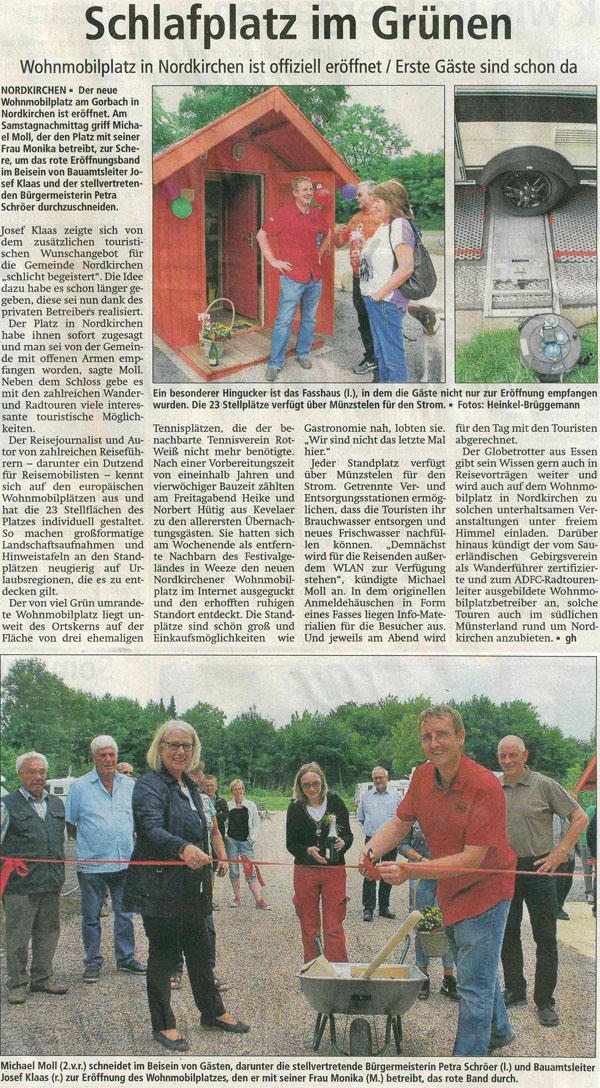 Westfälischer Anzeiger vom 19. Juli 2016