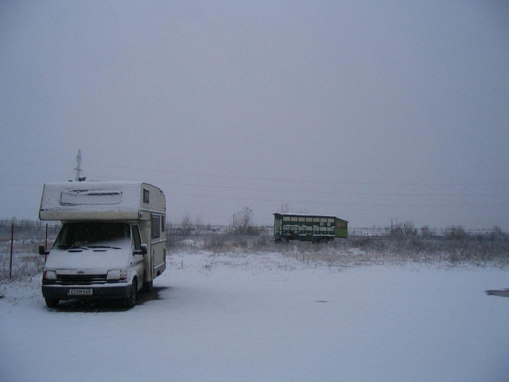 Winterlandschaft in Rumänien