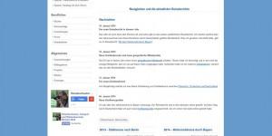 Diese Webseite im Jahr 2014 unter Joomla