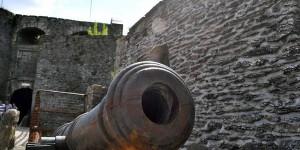 Kanone in der Festung