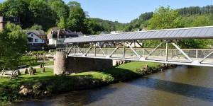 Überdachte Brücke