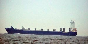Frachtschiff Barmbek - Rufzeichen A8ZA2