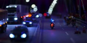 Straße bei Nacht
