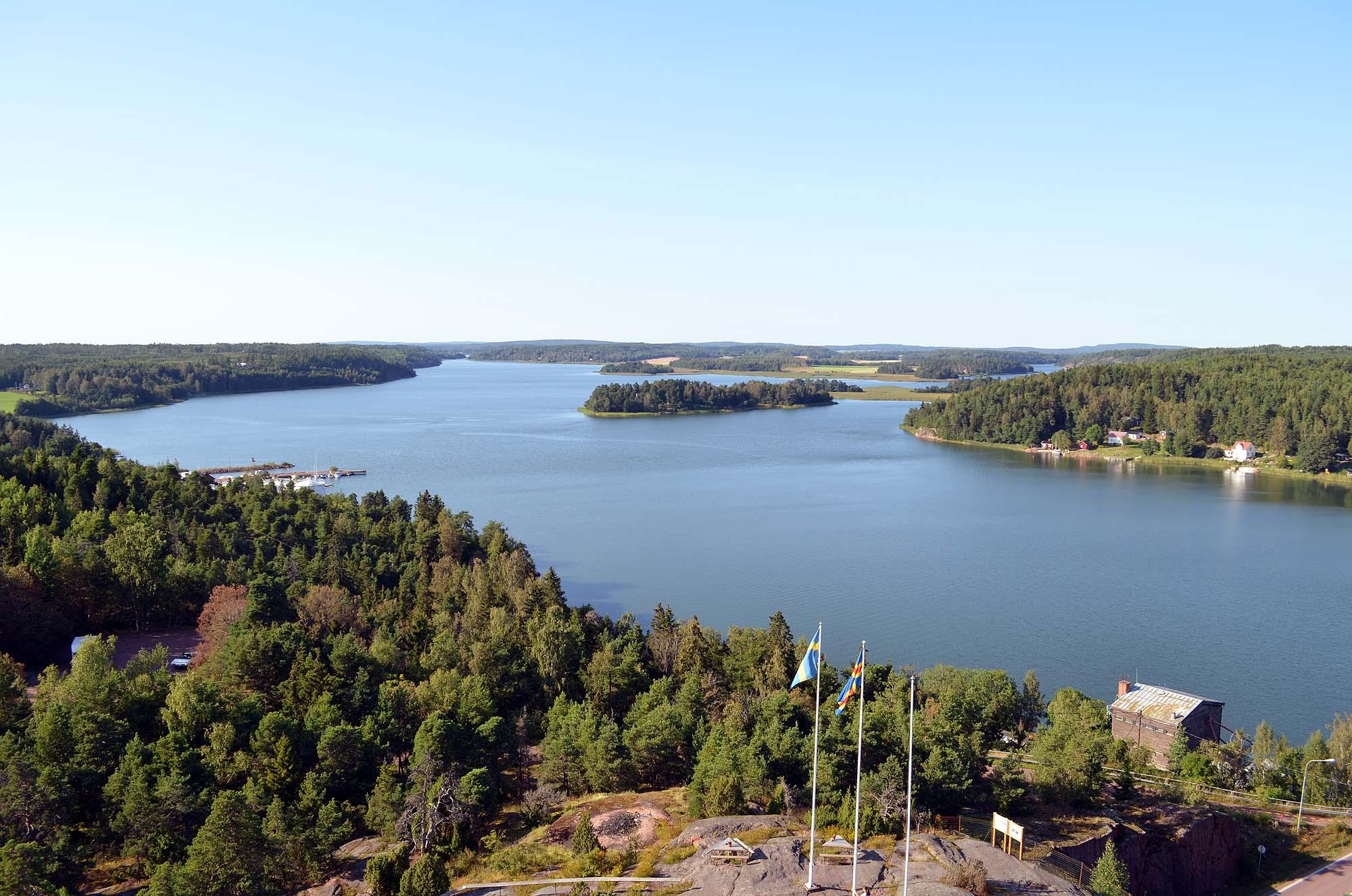 Blick über die Ålandinseln