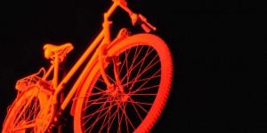Leuchtendes Fahrrad