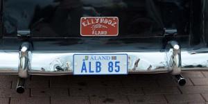 Autokennzeichen auf den Ålandinseln
