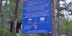 Hinweis auf Russische Grenze
