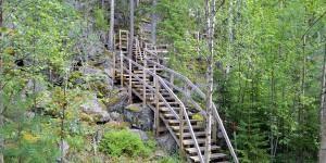 Wanderweg in Finnland