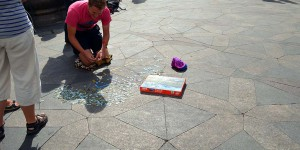 Ein Puzzle als Straßenkunst?