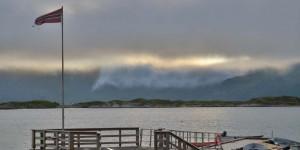 Wolken wie Sahne