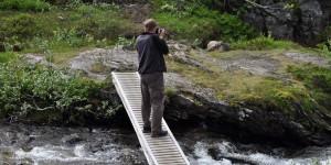 Fluss mit Steg