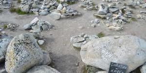 Steinhäufchen