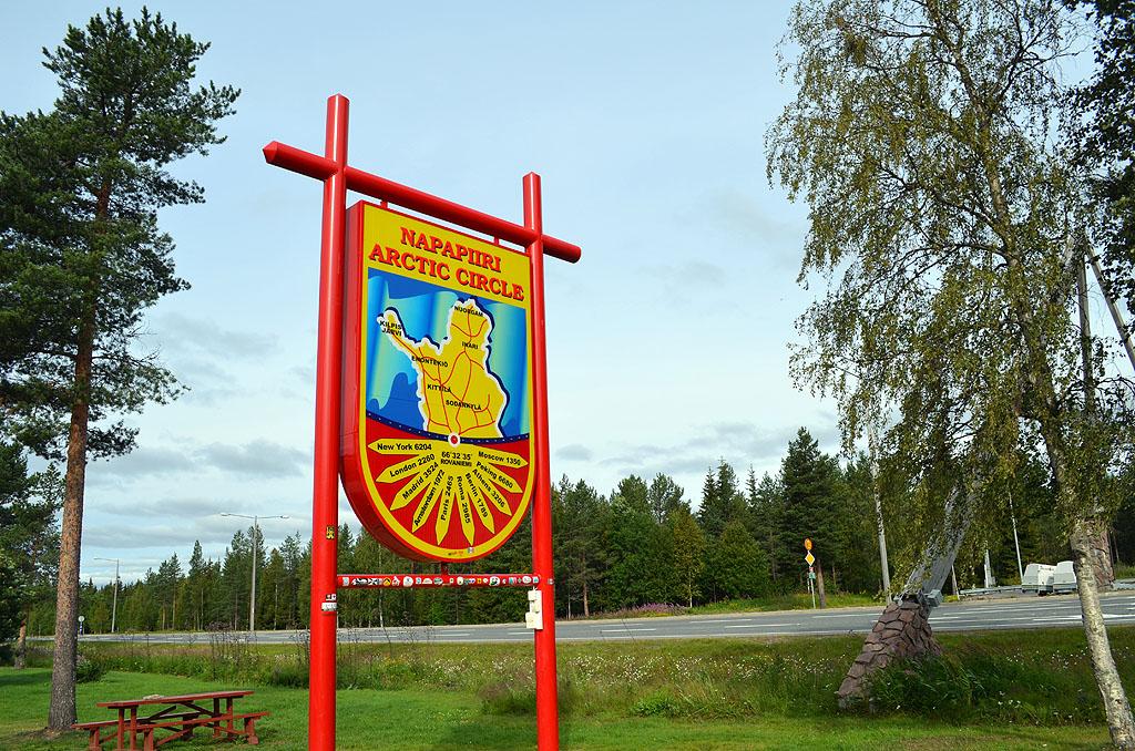 Polarkreis in Finnland