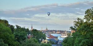 Fesselballon über Stockholm
