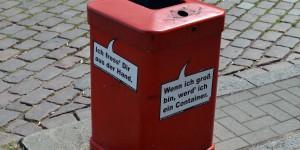 Mülleimer in Hamburg