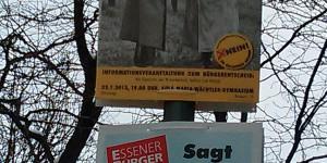 Werbeplakat mit Hitler