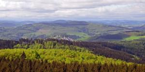 Blick vom Lörmecke-Turm