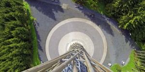 Blick vom Lörmecke-Turm nach unten
