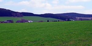 Ausblick über die Landschaft bei Faulebutter