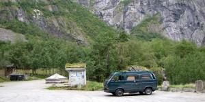 VW Bus in Norwegen